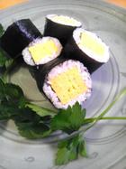 厚焼き卵の巻き寿司